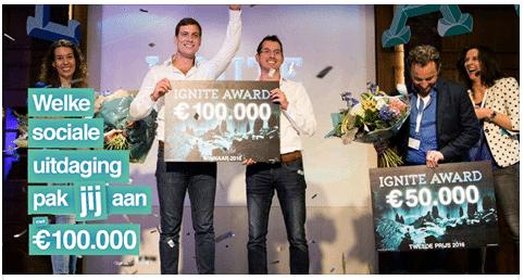 Ignite Award 2017 | Schrijf je in en maak kans op 100.000,- euro